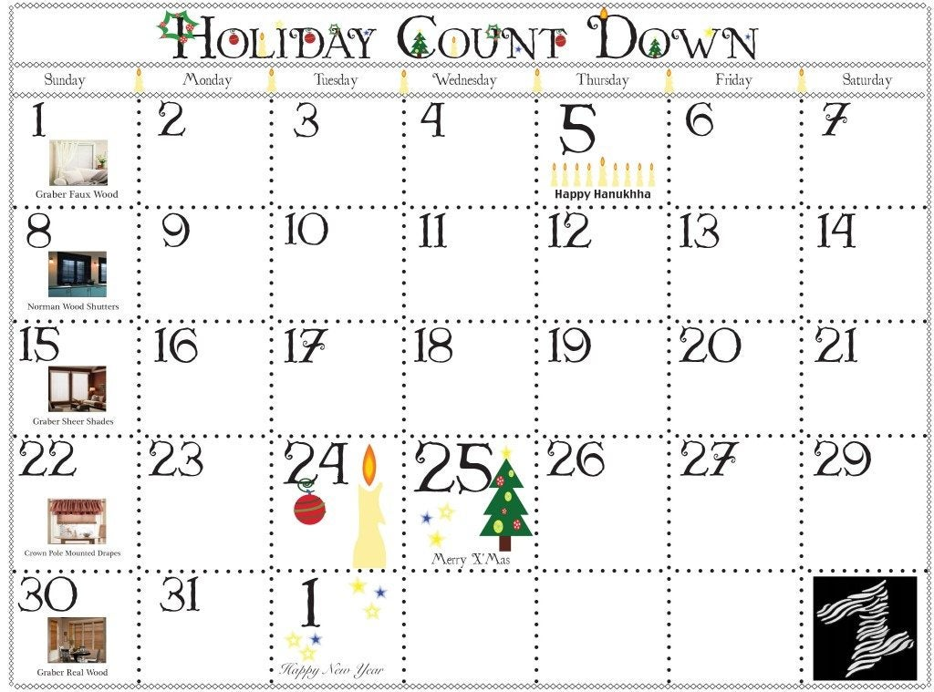 December-Calander - ZebraBlinds.ca
