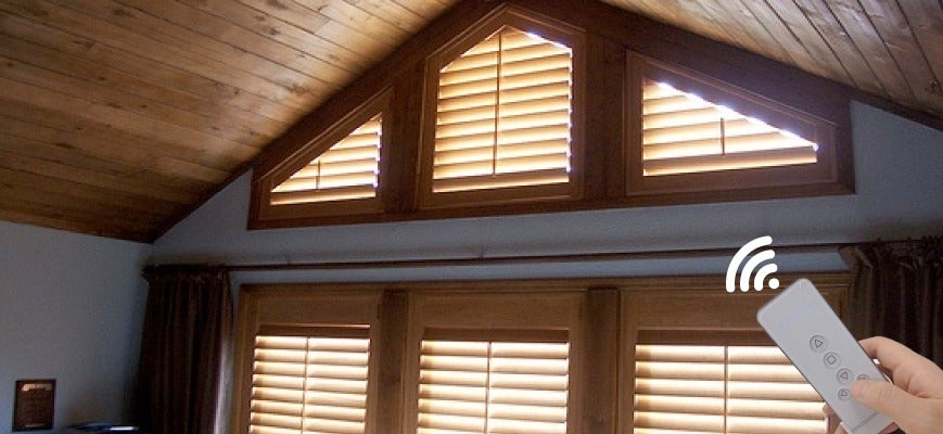 Motorized Window Treatment for Cathedral Windows