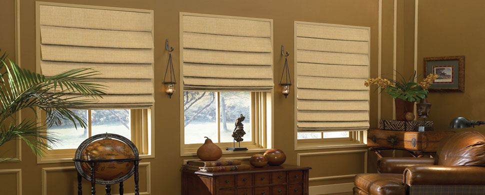 Soft-Folded-Roman-Shades-Canada - ZebraBlinds.ca