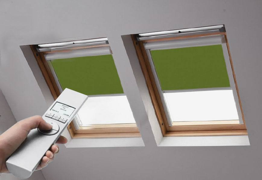 Remote Controlled Blackout Skylight Shades