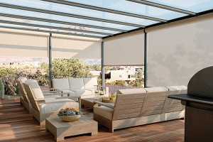Outdoor-Motorized-Solar-Shades - Zebrablinds.ca