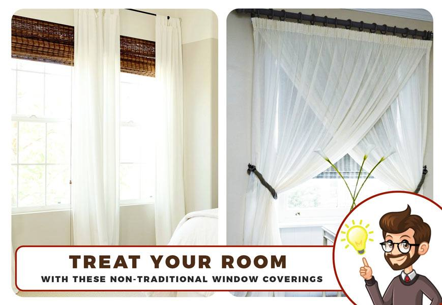 Treat Your Room With Non Traditional Window Coverings