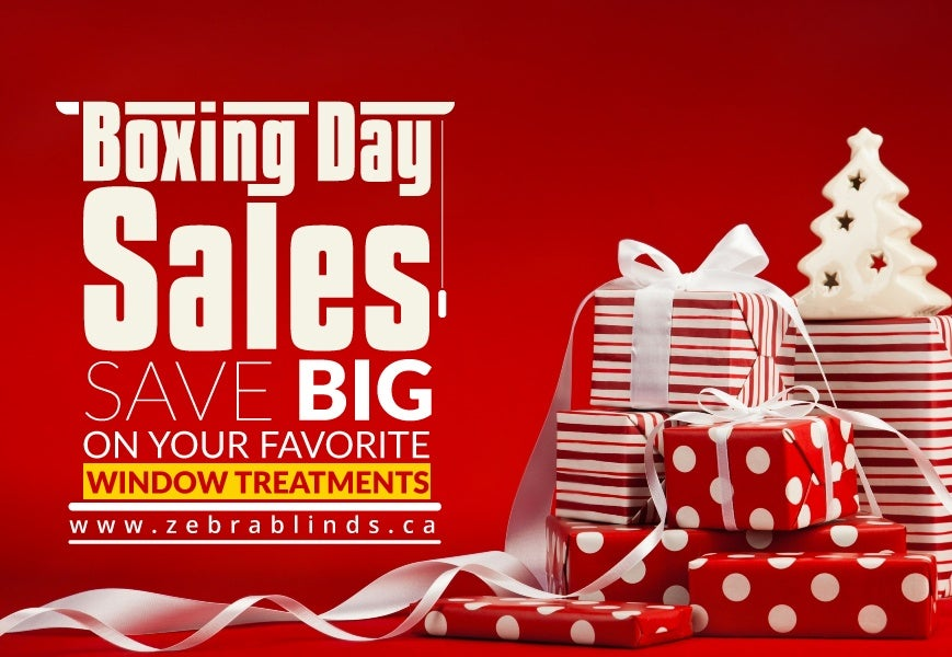 Window Treatment Sales On Boxing Day