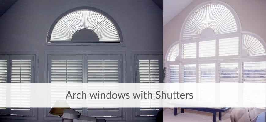 Arched Windows with Shutters