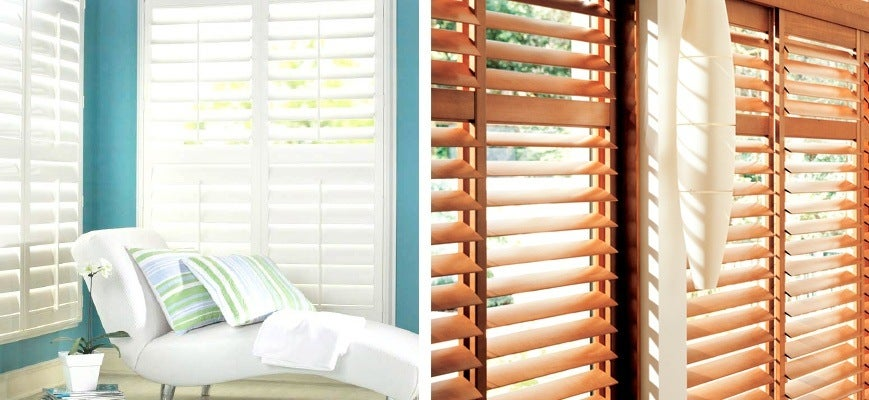 Vinyl Shutters and Wood Shutters