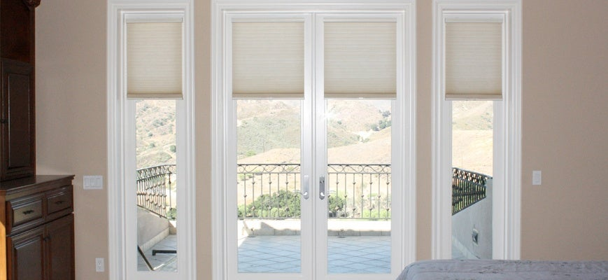 Cellular Shades for French Door