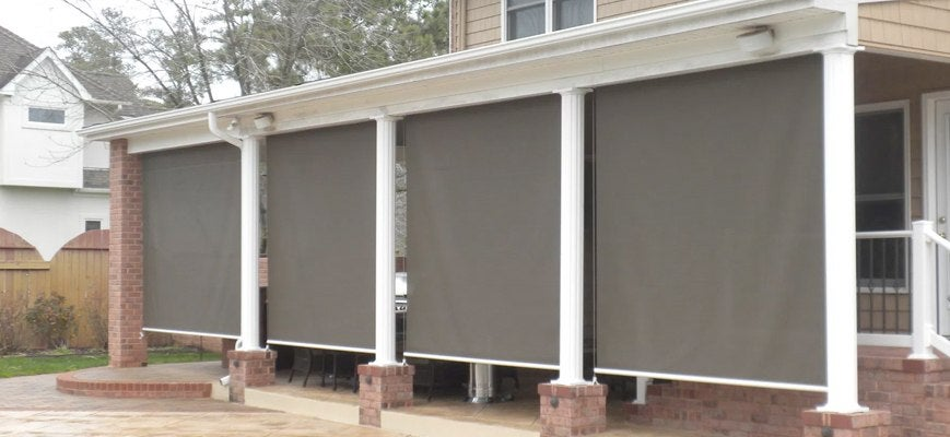 Exterior Solar Shades for Sunroom