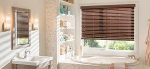 Faux Wood Blinds For Shower Windows
