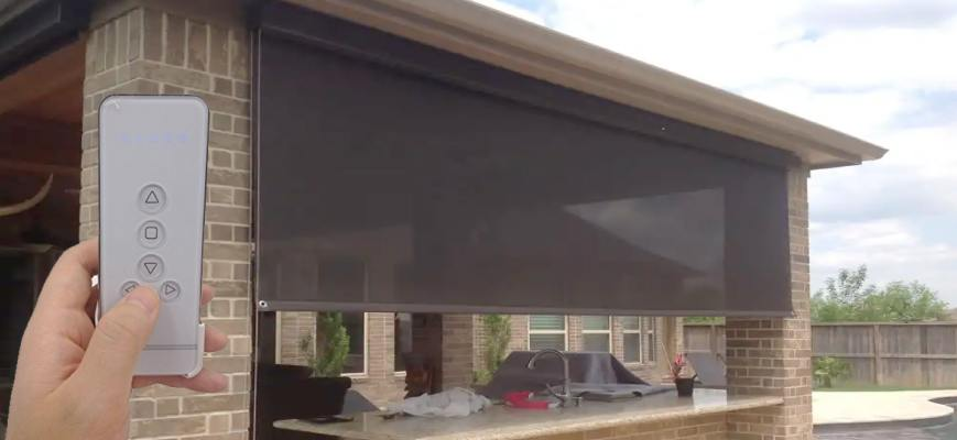 Motorized Outdoor Blinds