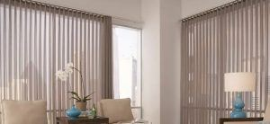 Sheer Vertical Shades for French Door