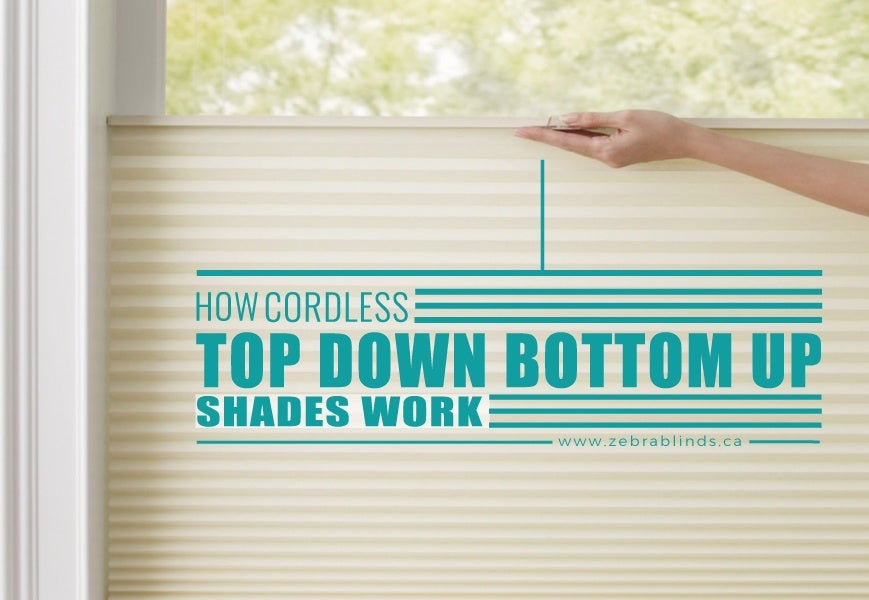 How do Cordless Top Down Bottom Up Shades Work