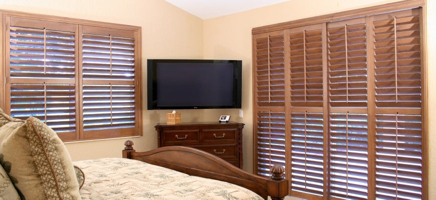 Mixing Wood Tones With Custom Window Wooden Blinds