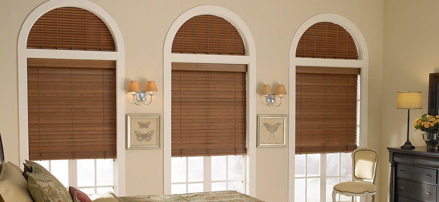 Tech Inspired Blinds For Palladian Windows With The