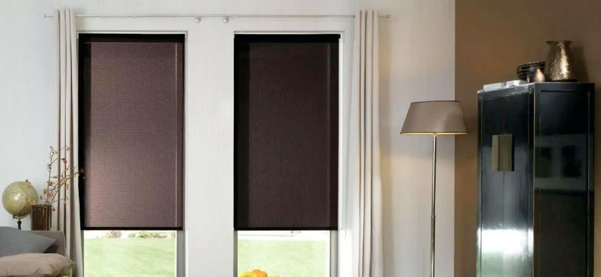 Blackout Roller Shades With Side Channels For A Designer Look