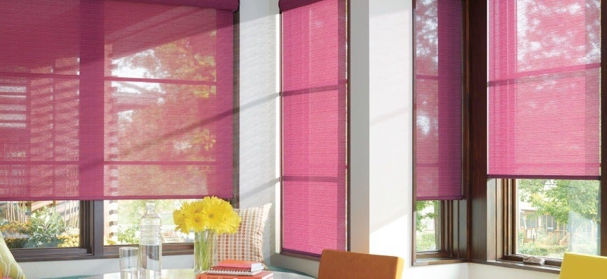 Bright Colored Roller Shades