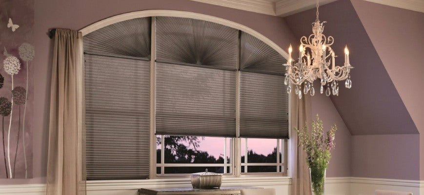 Cellular Shades for Half Moon Window Blinds