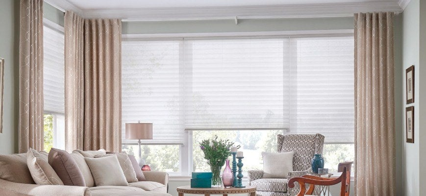 Layering Drapery with Cellular Shades