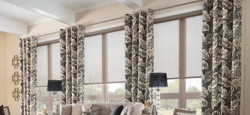 Layering Roller Shades with Drapery
