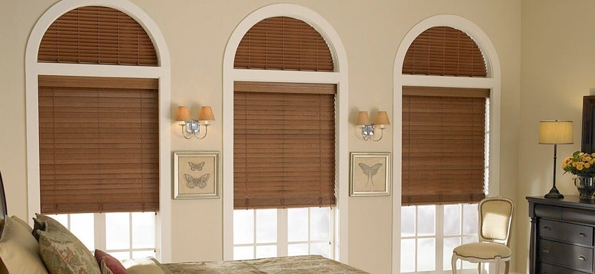 Wood Blinds for Arched Windows