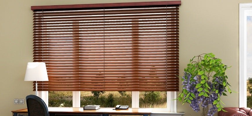 Wood Colored Blinds