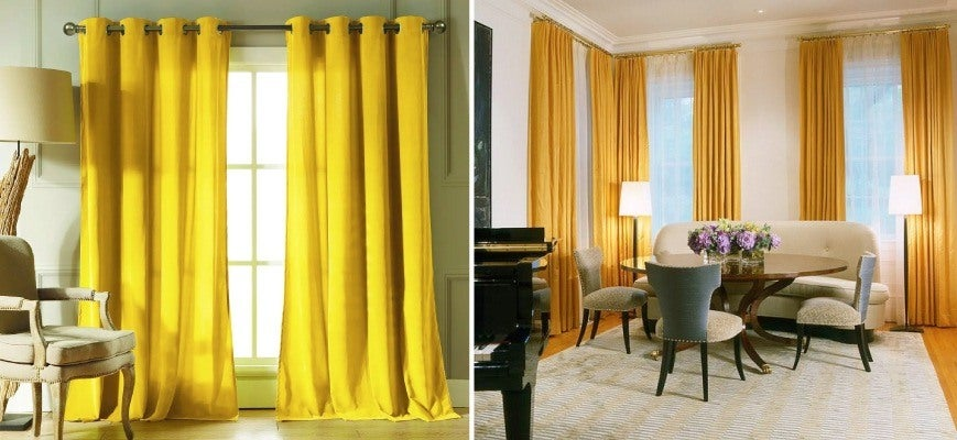 Bright Colored Curtains