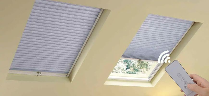 Motorized Skylight Window Shades