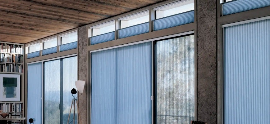 Vertical Cellular Shades for French Doors