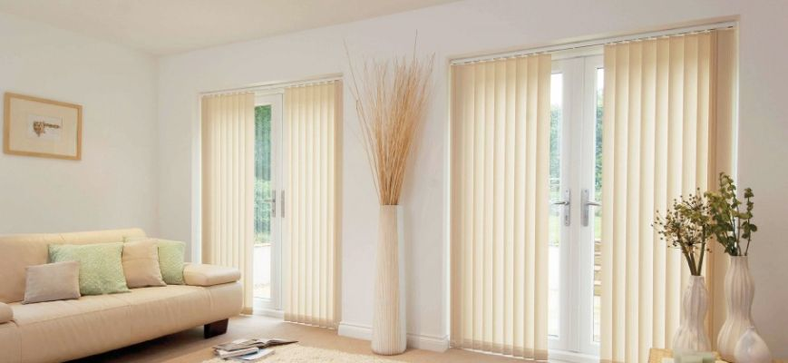 Vertical Window Blinds for French Doors