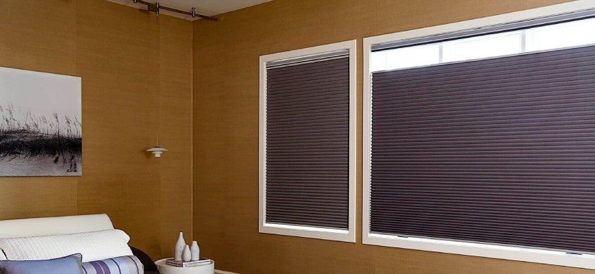 Brown Cordless Cellular Blackout Shades