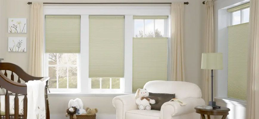 Cordless Window Blinds and Shades for Nursery Room