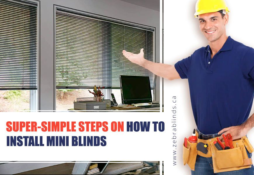 Install Mini Blinds