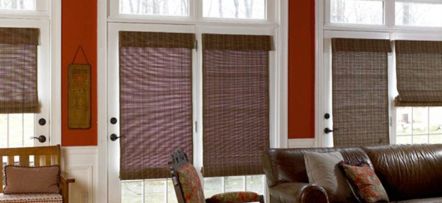 Woven Wood Shades for Front Doors