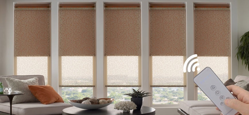 Motorized Dual Roller Shades