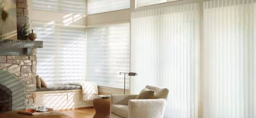 Sheer Vertical Shades for Doors
