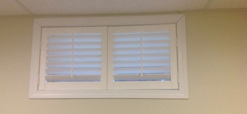 Faux Wood Blinds for Basement Windows