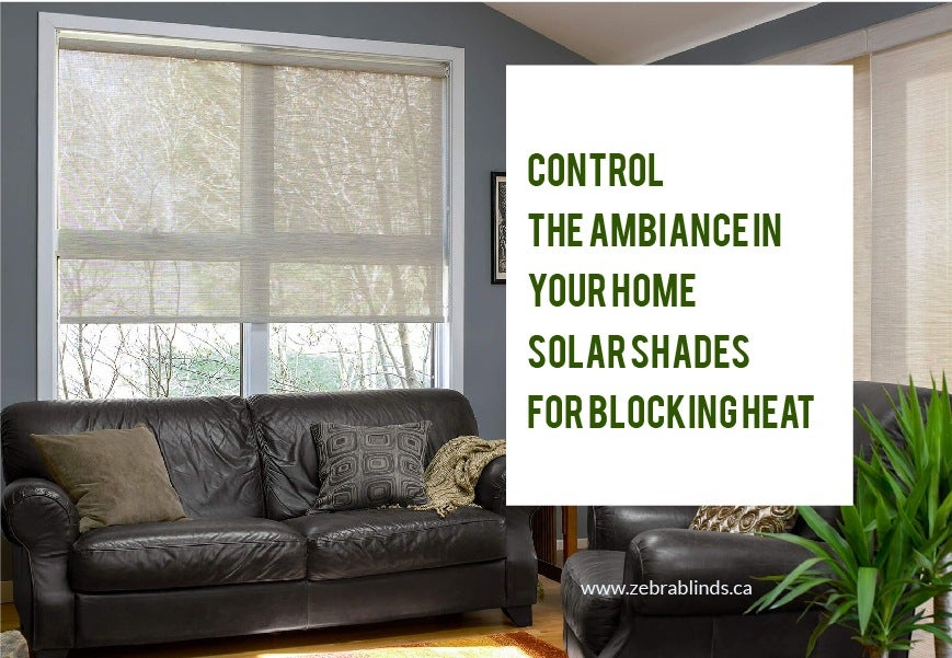 Solar Shades For Blocking Heat Control The Ambiance