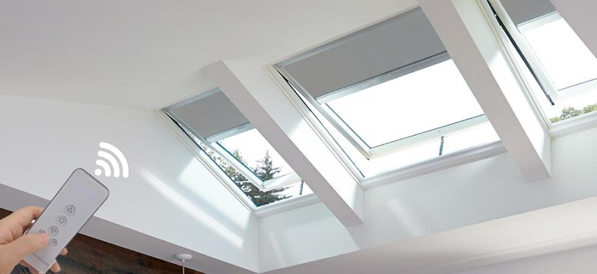 Electric Blackout Skylight Shades