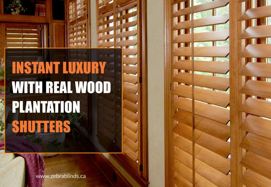 Real Wood Plantation Shutters