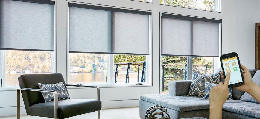 Smart Window Coverings For Large Windows Zebrablinds Ca