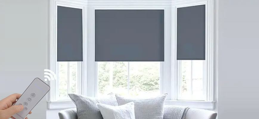 Automated Roll Up Blinds
