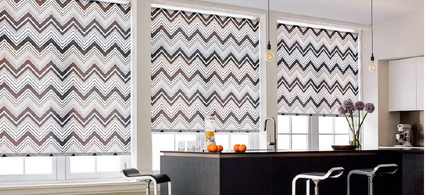 Roll Up Window Blinds for Large Windows