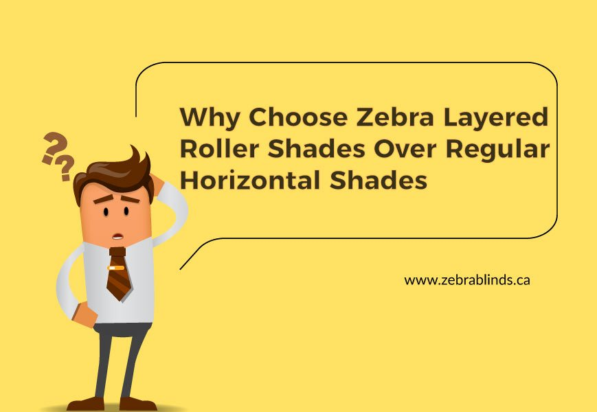 Zebra Layered Roller Shades