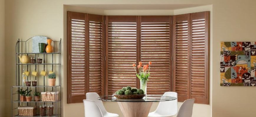 Wooden Shutters for Bay Windows