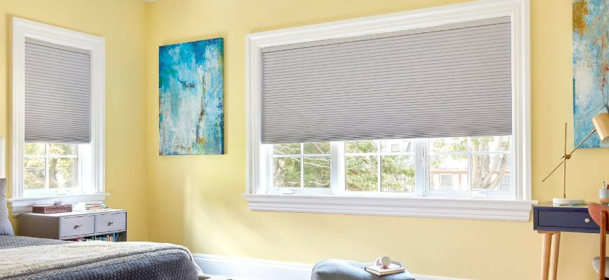 Cellular Shades for Wide Windows