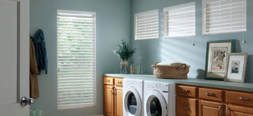Window Shutters for Laundry Room