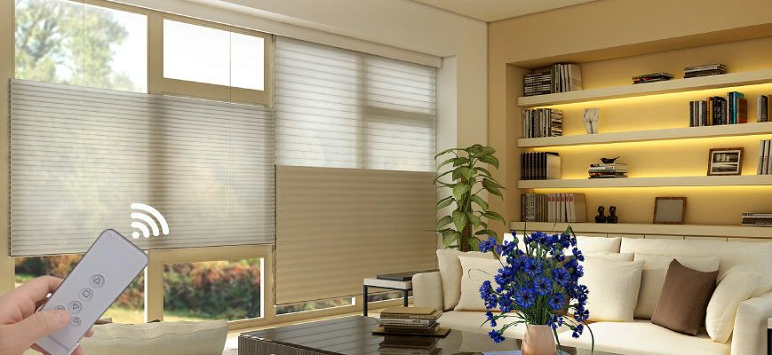 Top Down Bottom Up Motorized Shades