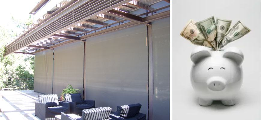 Motorized Outdoor Shades Saves Energy Bills