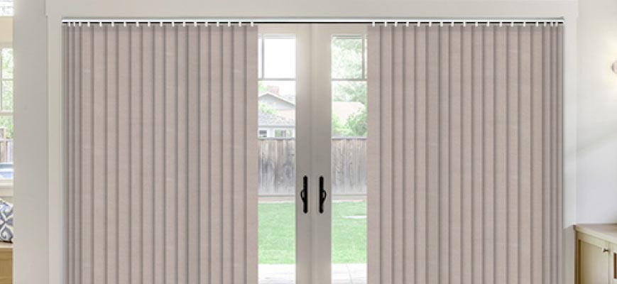 Insulated Vertical Blinds for Sliding Glass Doors