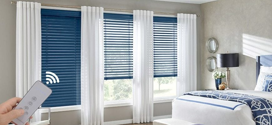 Electric Wooden Blinds for Bedroom
