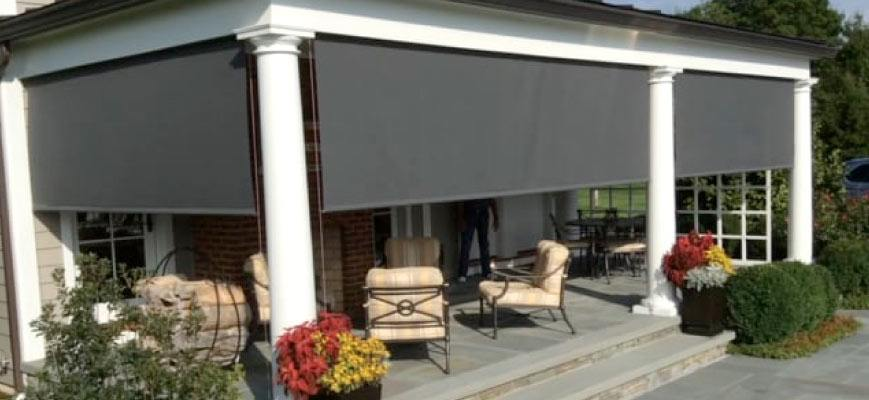 Motorized Outdoor Patio Shades